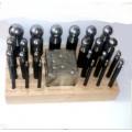 Анка кубическая стальная с пунзелями д=3-43 мм куб 62*62 (22 шт) на подставке