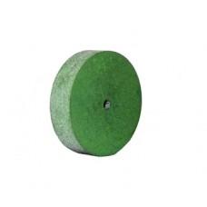 Круг полировочный каучуковый 22*3 зеленый